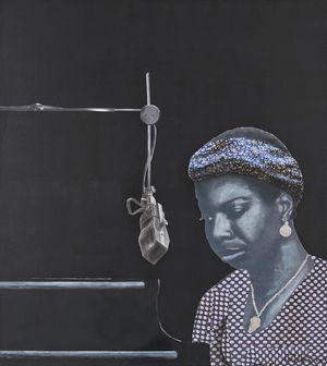 Nina Simone by Sam Nhlengethwa contemporary artwork