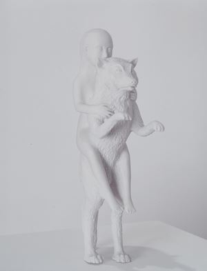 Woman with Wolf by Kiki Smith contemporary artwork