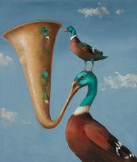 Bold as Brass by Joanna Braithwaite contemporary artwork painting