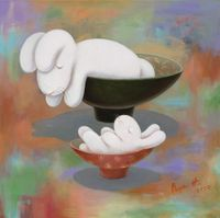 Nine days of therapeutic tea ceremony-- day 2 by Benrei Huang contemporary artwork painting