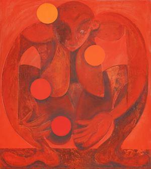 Juggler (red) by Antone Könst contemporary artwork