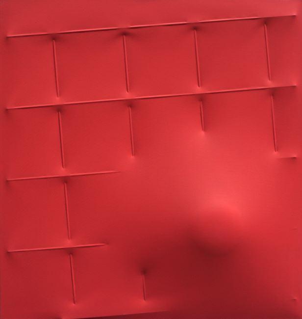 Rosso by Agostino Bonalumi contemporary artwork
