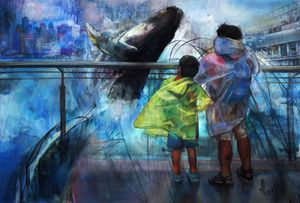 I hope you remember me the way I remember you  其实怕被忘记,至放大来演吧 by Vivian Ho contemporary artwork