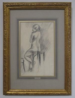 Nu Assis sur un Tabouret by Henri Matisse contemporary artwork