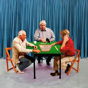 The Scrabble Players by David Hockney contemporary artwork