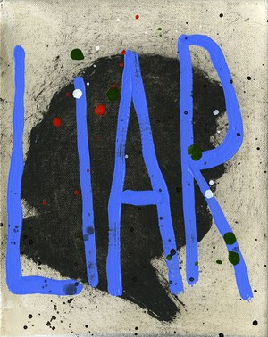 Pants on Fire 45 by Squeak Carnwath contemporary artwork