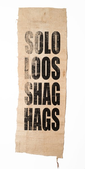 Untitled (SOLO/LOOS/SHAG/HAGS) by Newell Harry contemporary artwork