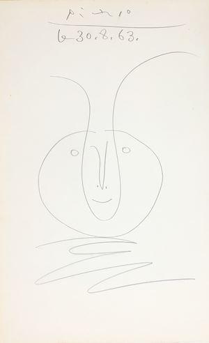 Tête de faune by Pablo Picasso contemporary artwork