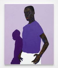 Purple Shadow by Amoako Boafo contemporary artwork painting