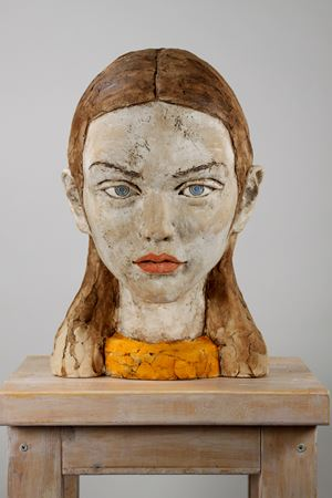 TU1921-women head /Gabrielle by Hiroto Kitagawa contemporary artwork