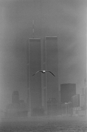 Twin Towers, Manhattan by Louis Stettner contemporary artwork