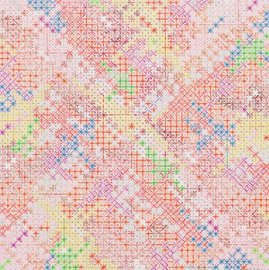 Appearance of Crosses 2018-4 十示 2018-4 by Ding Yi contemporary artwork