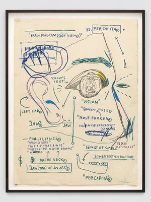 Untitled by Jean-Michel Basquiat contemporary artwork works on paper, drawing