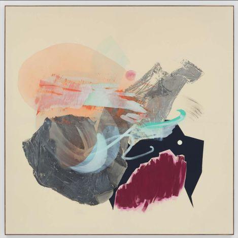 Sigrid Sandström, Ascendant, 2021. Acrylic on canvas. Framed 198.12 cm x 198.12 cm.Courtesy Anat Ebgi, Mid Wilshire/Culver City.