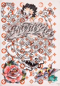 Untitled (Tattoo drawing #4) by Wim Delvoye contemporary artwork works on paper