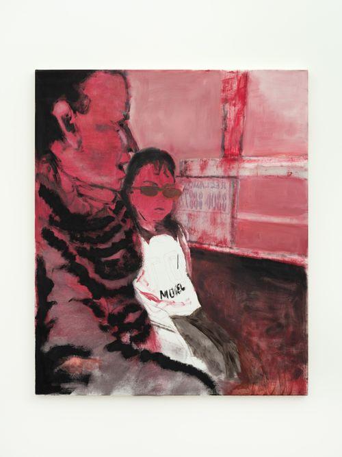 Niña y señora en colectivo (rosa) by Valentina Liernur contemporary artwork