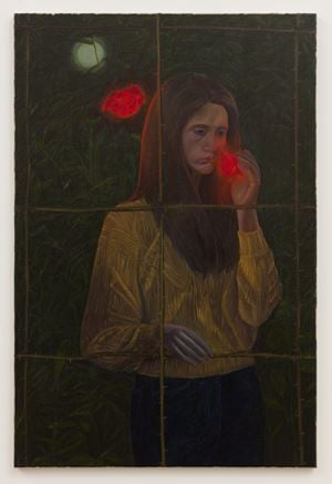 Lilith Smelling a Rose by Srijon Chowdhury contemporary artwork