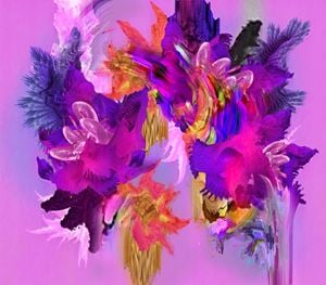 Pictures with Flowers by Harley Ives contemporary artwork
