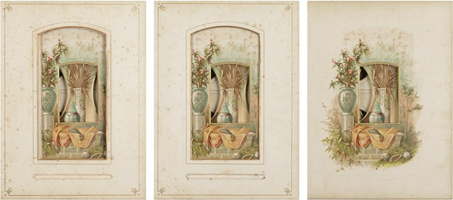 Every even page from a nineteenth century photo album #7-9 by Izabela Pluta contemporary artwork