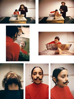 Untitled (Facial Hair Transplants) by Ana Mendieta contemporary artwork photography