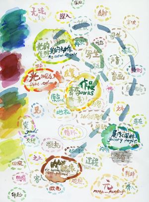 Sketch map No.1 by Wang Jun contemporary artwork painting, works on paper