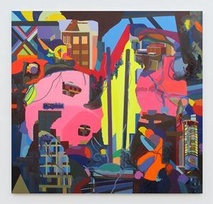 Empty Flagposts/ME by Franz Ackermann contemporary artwork