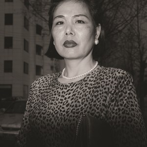 Ajumma wearing a tiger fur print dress, March 27 by Hein-kuhn Oh contemporary artwork