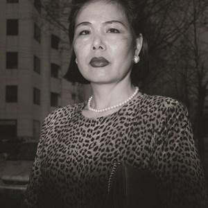 Ajumma wearing a tiger fur print dress, March 27 by Hein-kuhn Oh contemporary artwork