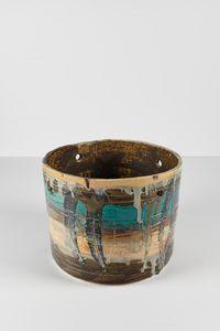 Untitled Large Planter 18 by Rashid Johnson contemporary artwork ceramics