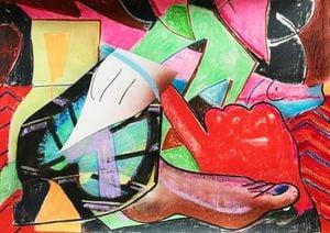 Red Hand by Aurélie Gravas contemporary artwork