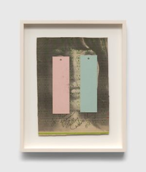 Untitled (To Gino From Shelley Duvall) by Ray Johnson contemporary artwork