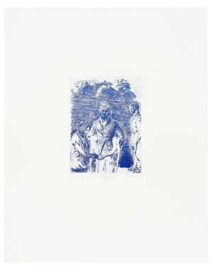 Schlepper by Neo Rauch contemporary artwork