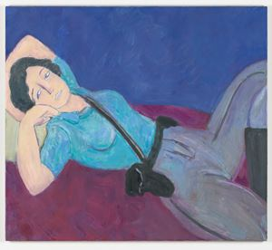 Reclining Cop by Scott Reeder contemporary artwork