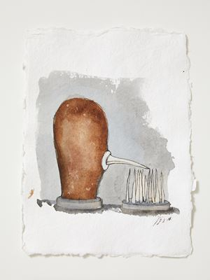 Head[case] working drawing 76 by Julia Morison contemporary artwork