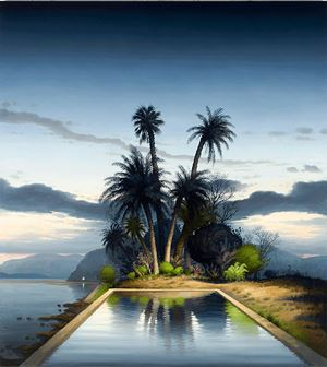 Les palmiers by Alexander McKenzie contemporary artwork