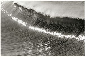 Sculpted Wave, Hermosa Beach, California, U.S.A. by Anthony Friedkin contemporary artwork