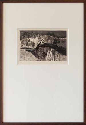 Moon-Lit Walk by Mrinalini Mukherjee contemporary artwork print