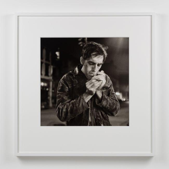 David Lighting Up, Manhattan-Night (I), November 26 by Peter Hujar contemporary artwork