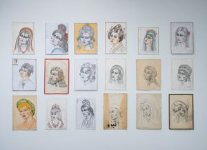 Brave wounded blows. drawings by Patricia Esquivias contemporary artwork drawing