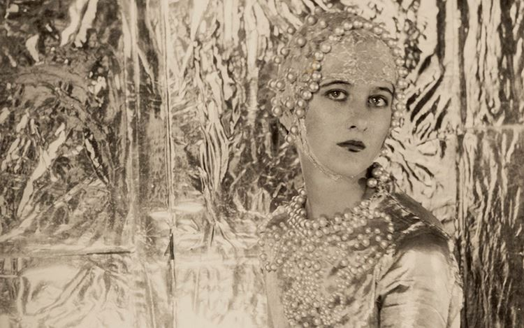 Cecil Beaton, Baba Beaton (1926) (detail). Stamped with sotheby's cecil beaton studio ink stamp onreverse. Silver gelatin print. 11 3/4 x 7 1/2 inches. Courtesy Huxley-Parlour.