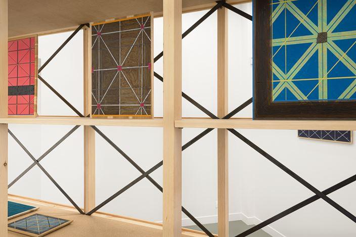 Exhibition view:Matts Leiderstam, Seen Through the Grid,Andréhn-Schiptjenko, Paris (21 January–6 March 2021). Courtesythe artist and Andréhn-Schiptjenko.Photo: © C. Maignien.
