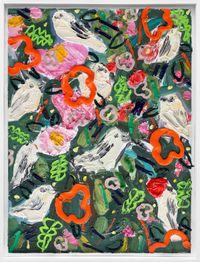 Wallpaper for Birds by Georgina Gratrix contemporary artwork painting