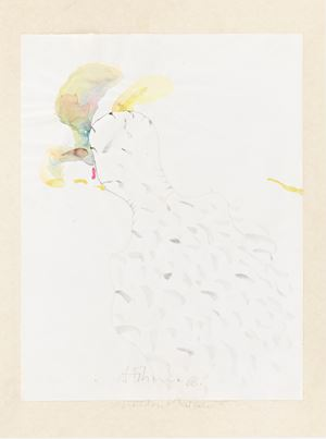 heroischer Mediator by Gerhard Hoehme contemporary artwork painting, works on paper