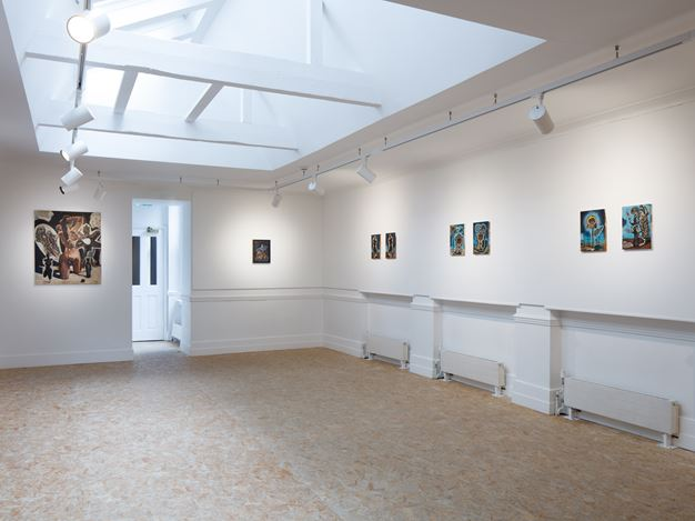 Exhibition view: Damien Deroubaix, HdM GALLERY, London (22 June–31 July 2020). Courtesy HdM GALLERY.