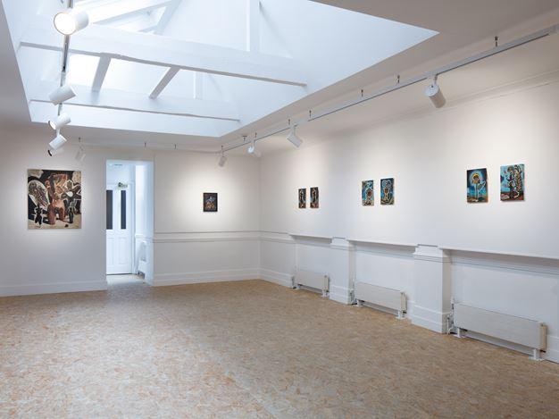 Exhibition view:Damien Deroubaix, HdM GALLERY, London (22 June–31 July 2020). Courtesy HdM GALLERY.